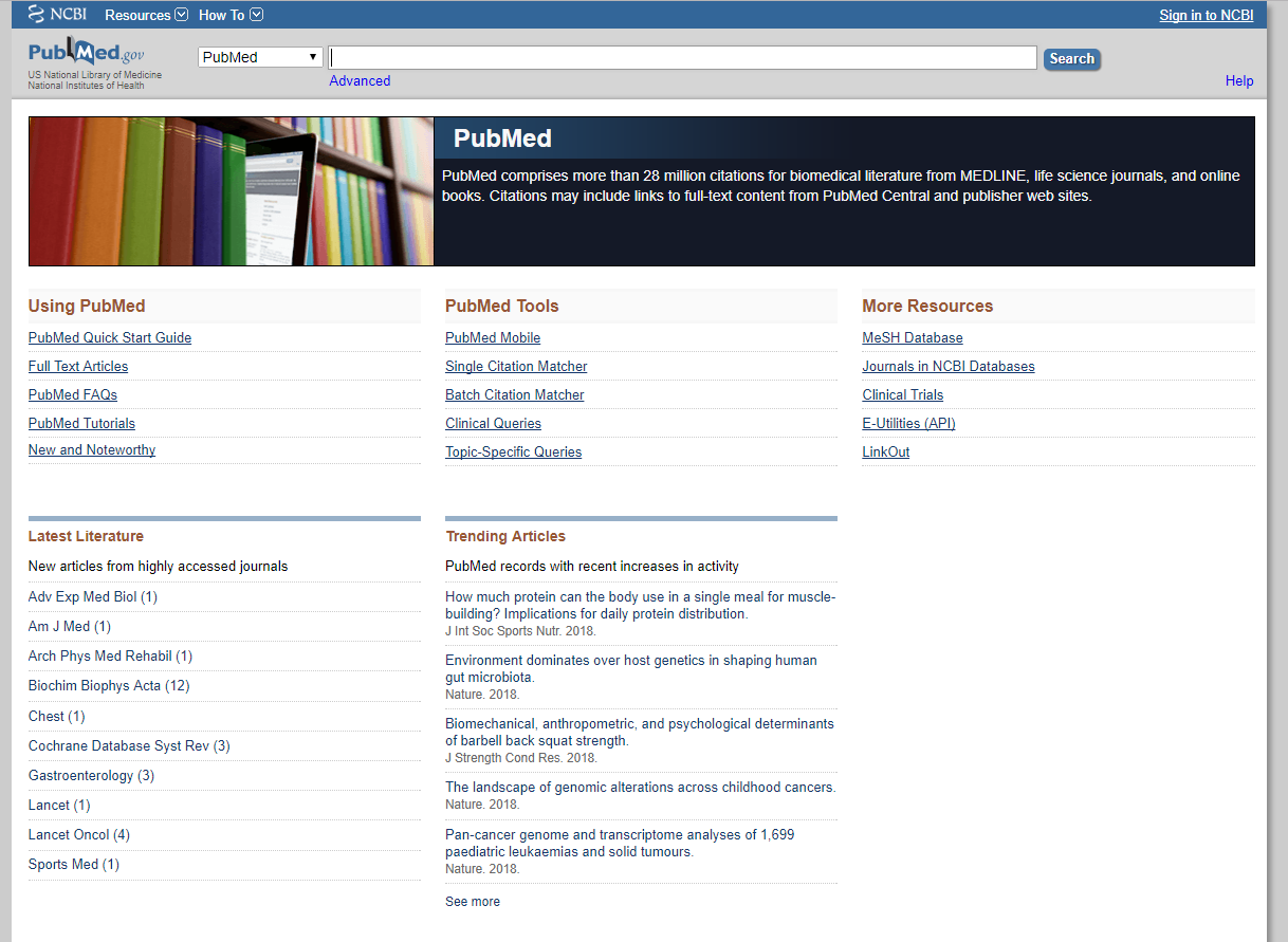 Best free web databases for research