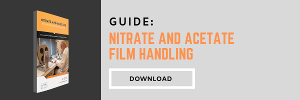 Nitrate and acetate film handling guide banner