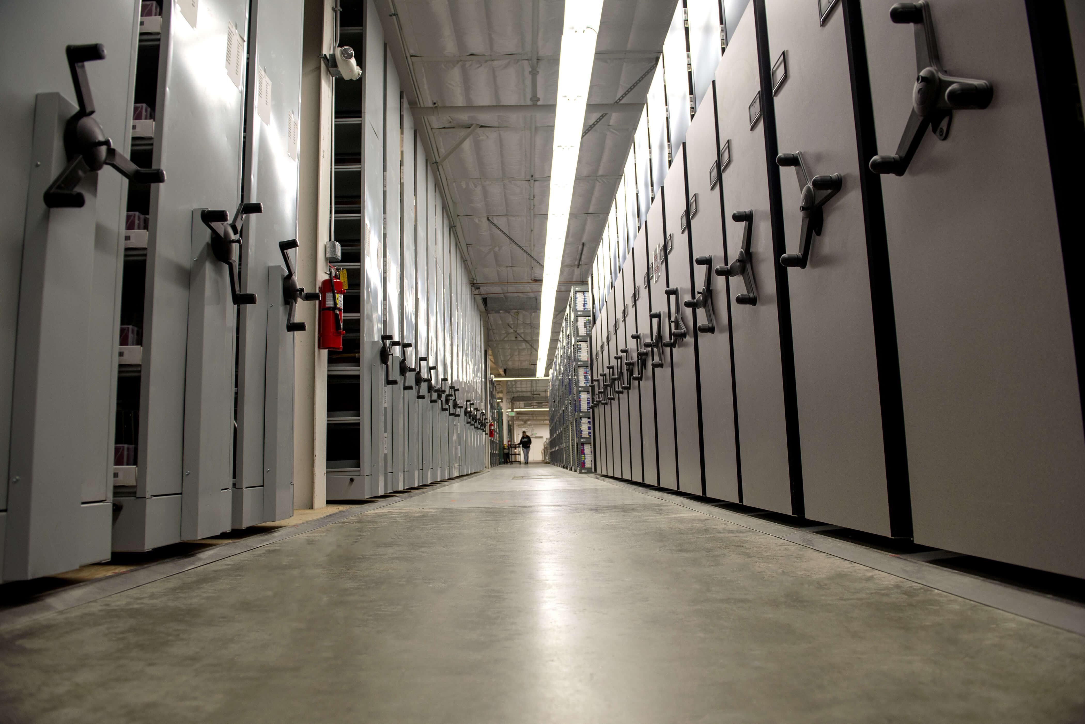 Warehouse storage vault